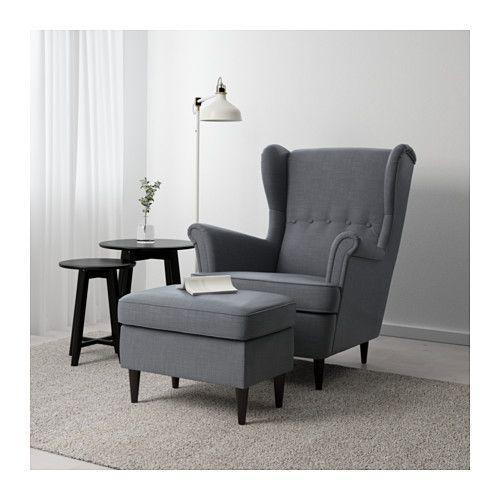 STRANDMON Ottoman - Nordvalla dark gray - IKEA