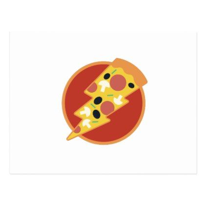 Flash Pizza Postcard - postcard post card postcards unique diy cyo customize personalize