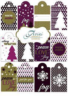 AVINI christmas etiquette free printable