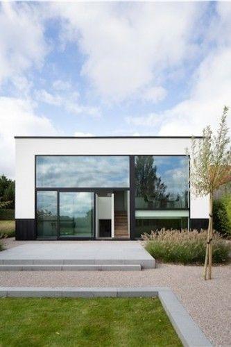 Inspiratiewoning in minimalistische stijl. #modernarchitecture #minimalism #exterior #exteriordesign #absoluutarchitectuur