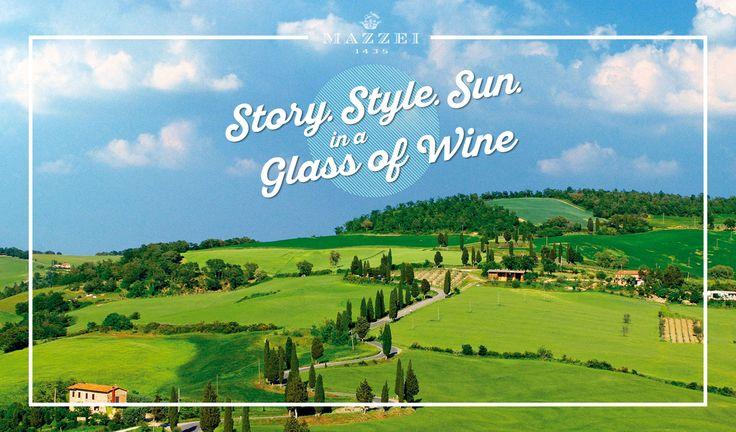"Story. Style. Sun. in a Glass of Wine - ""Summer is coming"". @marchesimazzei  #marchesimazzei #fonterutoli  #wine #tuscany #winestyle #winetasting #winelovers"