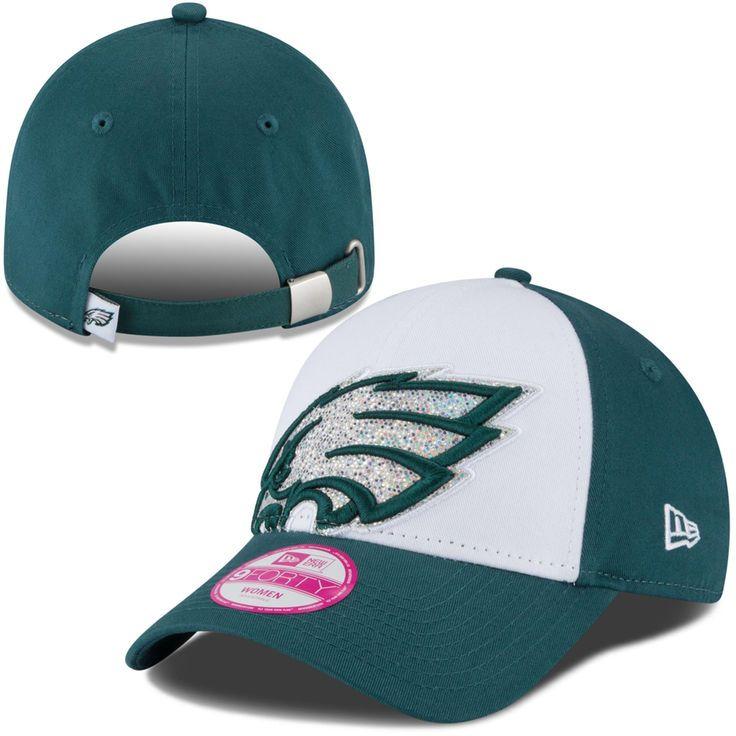 Philadelphia Eagles New Era Women's Glitter Glam 9FORTY Adjustable Hat - White - $24.99