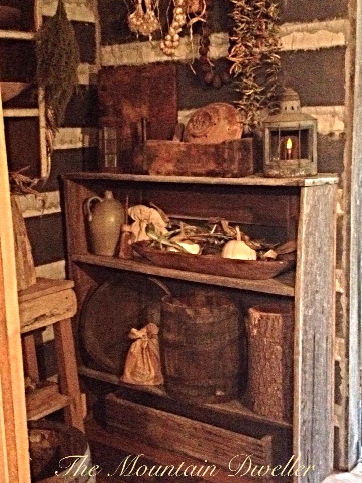 Inside the little cabin.