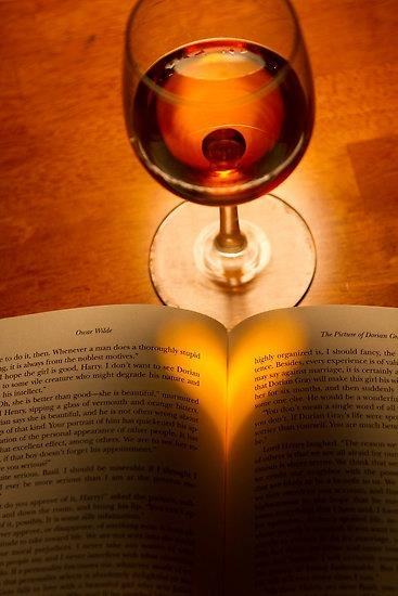What better way to spend the evening? Curl up with a good book and a glass or wine.