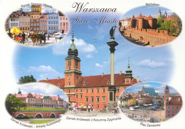 Ville de Varsovie - Carte reçue de Pologne - Distance: 1,490 km (926 miles) - Travel time: 5 days