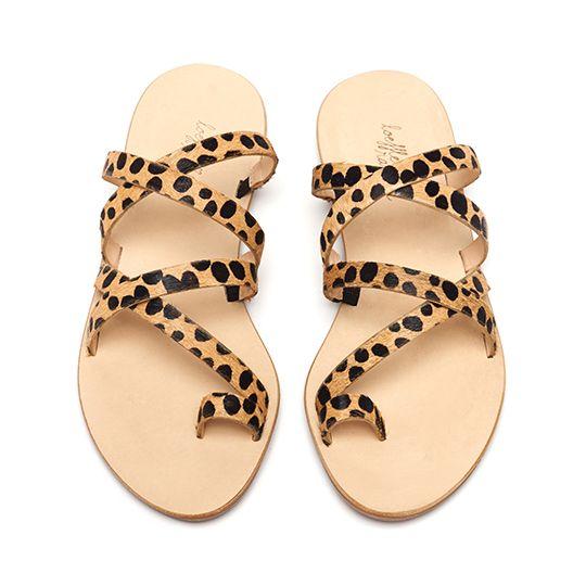 leopard strappy loeffler randall sandals