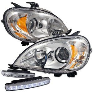 Mercedes ML320 2002 head lamp available at:http://www.automotix.net/lights_mirrors/2002-mercedes-ml320-lights-20_6913_00.html Description:	Assembly, Comes With 3 Bulbs Dimensions:13.89x10.13x25.27 Fits:	 2002 Mercedes ML320 2003 Mercedes ML320 See more applications Part No:20-6913-00 OEM No:163 820 50 61
