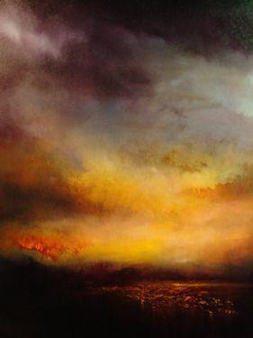 "Saatchi Art Artist Maurice Sapiro; Painting, ""Lake At Sunset"" #art"