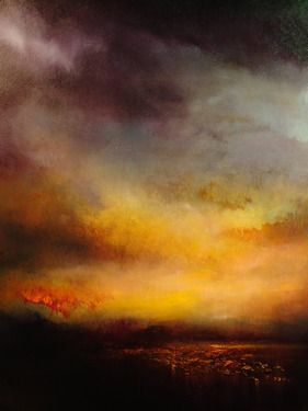 "Saatchi Online Artist Maurice Sapiro; Painting, ""Lake At Sunset"" Available At Saatchi Online #art"