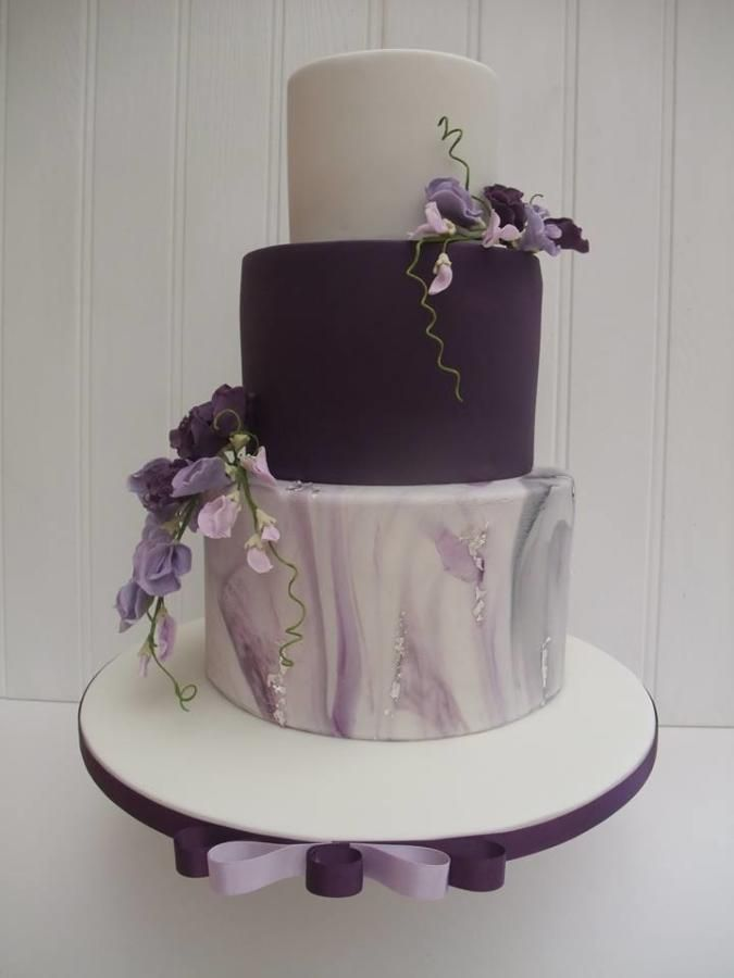 Sweetpea Wedding cake  by The Stables Pantry  - http://cakesdecor.com/cakes/282283-sweetpea-wedding-cake