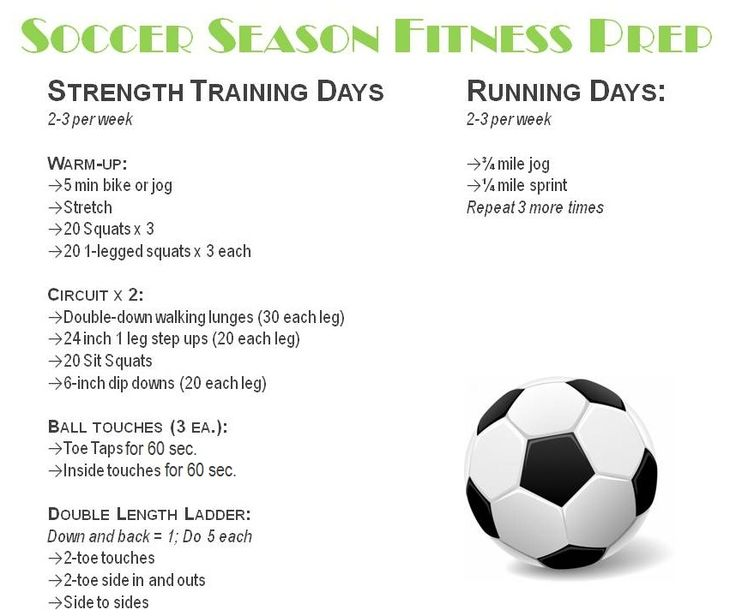 I was at my healthiest when I played soccer in high school--Soccer workout
