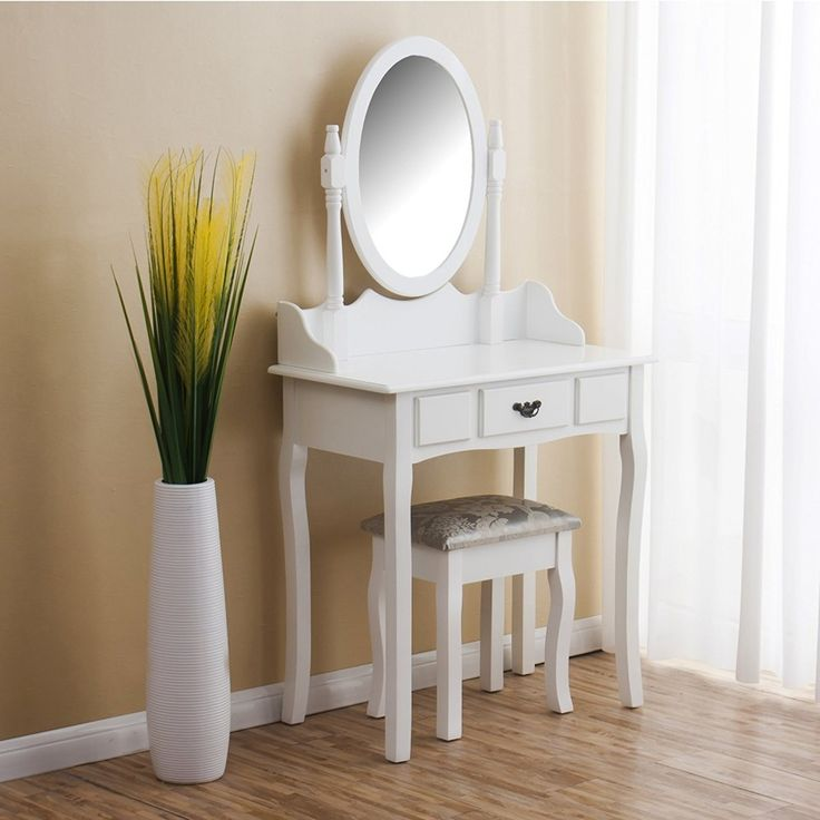 SEA148 Frumusețe prin simplitate - http://www.emobili.ro/cumpara/sea148-set-masa-alba-toaleta-cosmetica-machiaj-oglinda-masuta-vanity-826 #eMobili