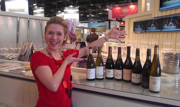 New Zealand wine masterclass at vinexpo 2015.  The bottles are not so full as at the start of the day!