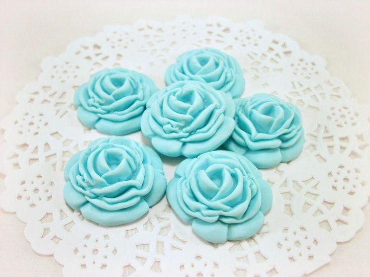 12 Сахар Цветы, Gumpaste Цветы, Съедобные Цветы Cupcake, сахар Цветы для тортов, съедобные цветы, Fondant Розы, Съедобные торт Топпер Декор