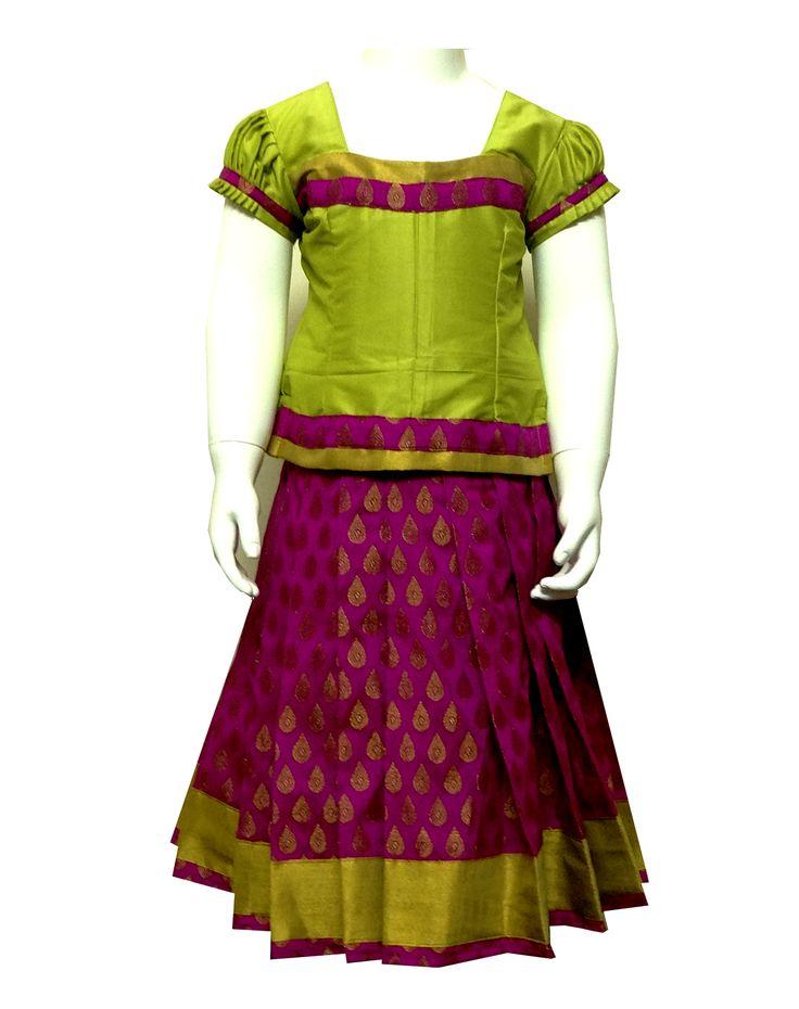#kidspattu pavadai#kidsreadymade pattu pavadai new pattu pavadai collection in india only at www.bujuma.com