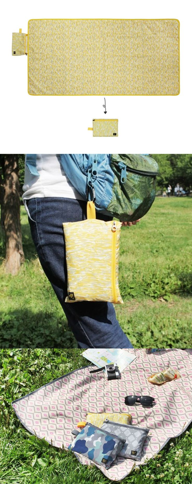 What's on our list of must have picnic supplies? The Weekade Foldable Mat! This beautifully patterned picnic mat unfolds to a large size and also becomes super compact when folded into its pocket! This versatile mat is dense, durable, and water resistant on both sides. When folded it even has a fabric loop so you can clip it onto a backpack or bag! It's always a good time for outdoor activities, so take this along when you go camping or to the beach, amusement parks, and picnics! Check it…
