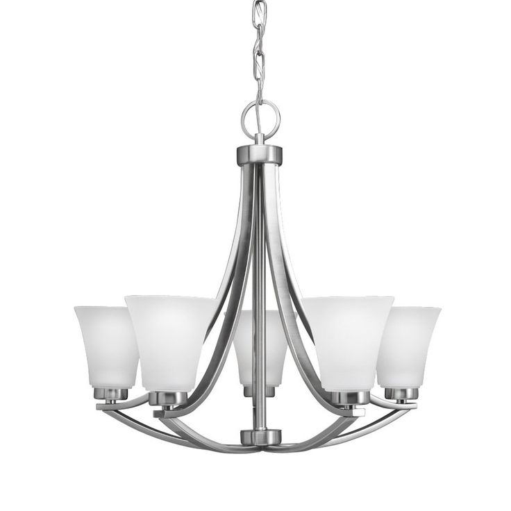 Portfolio 5 light lyndsay brushed nickel chandelier lowes canada · dining room