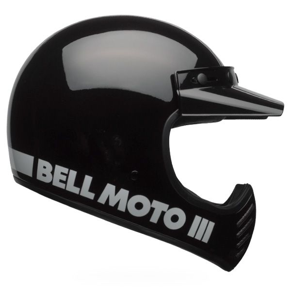 Casco Bell Moto-3 Classic negro para moto - Nitrokid - Recambios motos, accesorios y equipamiento