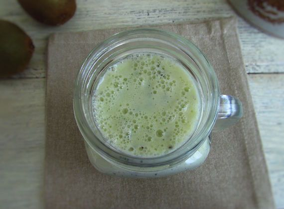 Kiwi milkshake | Food From Portugal. To enjoy the sun and the heat, nothing like a refreshing, tasty and nutritious drink! Try this delicious kiwi milkshake!  http://www.foodfromportugal.com/recipe/kiwi-milkshake/