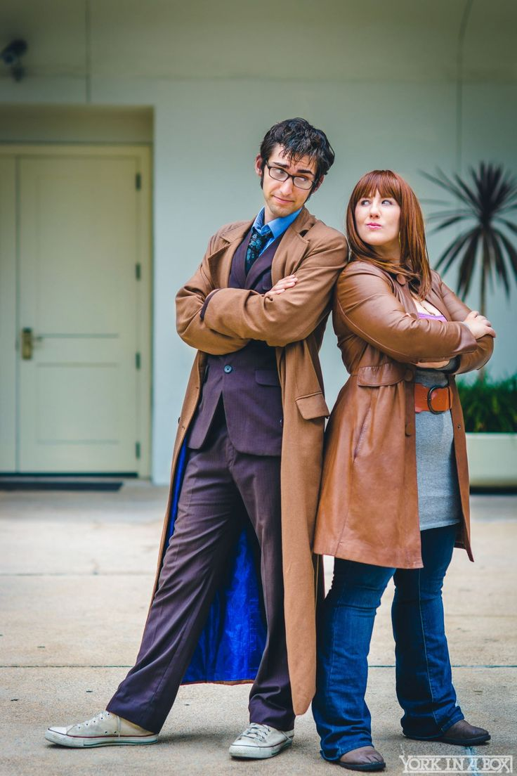 The 10th Doctor and Donna Noble from Doctor Who Cosplayers: Time and Space Cosplay (The 10th Doctor) Katie Potter Cosplay (Donna Noble) Photographer: York In A Box