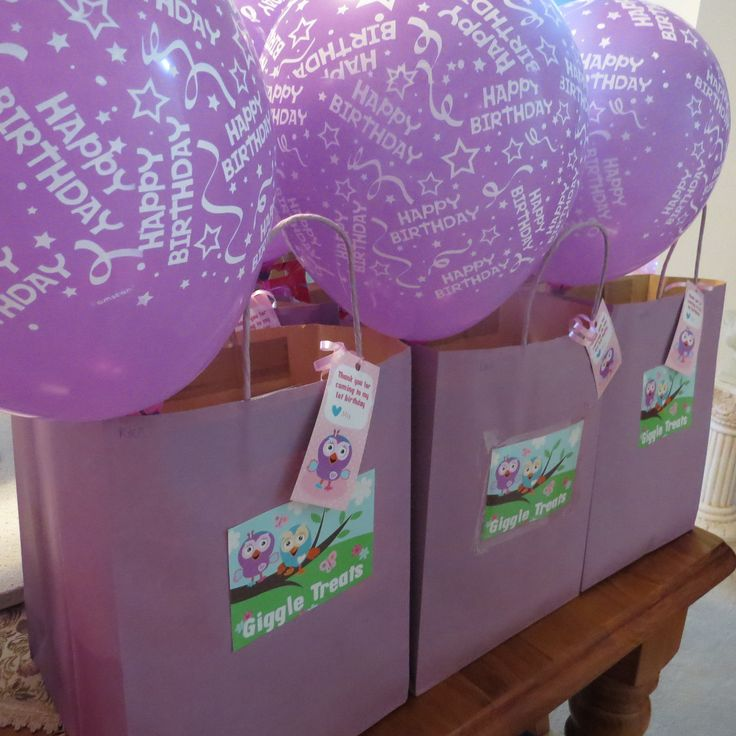Goody Bags - Owl Party, Giggle and hoot