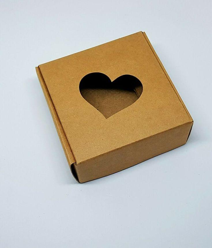 10 Stück -Schmuck Verpackung, Schachtel, Herz, 7.5cmx 7.5cm