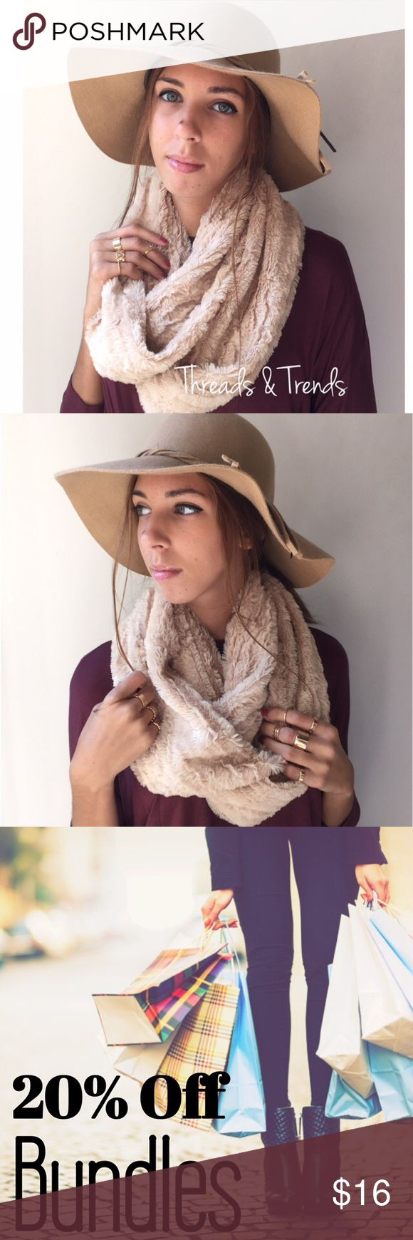 Faux Fur Infinity Scarf Details  * Faux Fur material  * High quality  * Cream color  * One size Accessories Scarves & Wraps