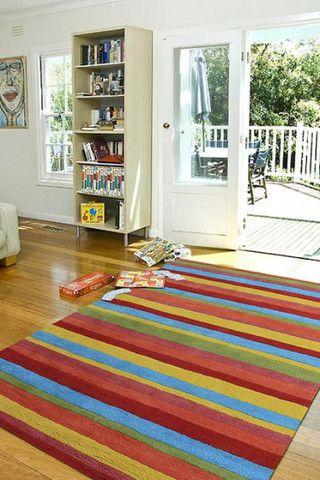 Offspring Stripe Handtufted Rug, in Multiple Sizes & Colours - Complete Pad ®