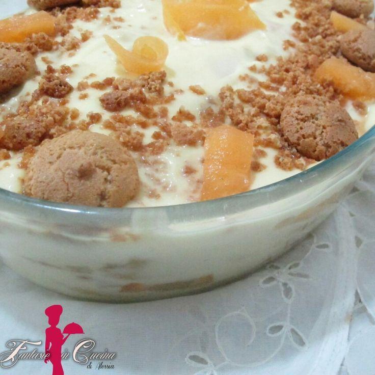 #TiramisúAlMeloneEAmaretto #FantasieInCucinaDiAlessia Voglia di dolce stasera??? Dopo le più viste varianti, vi propongo il tiramisù al melone e amaretto. Un idea originale e dal sapore delicato, fresco ed estivo. Il dolce perfetto per concludere in bellezza ogni pasto. #ricette #GialloZafferano: http://blog.giallozafferano.it/fantasieincucinadiale/tiramisu-al-melone-e-amaretto/
