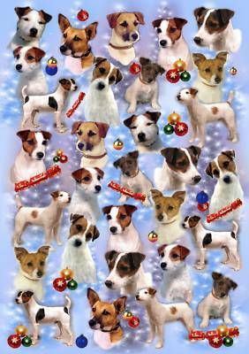 Parson Jack Russell Xmas Wrapping Paper by Starprint Auto Combined Postage | eBay
