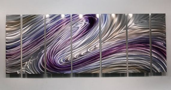 Purple Metal Abstract hand Painted Wall Art Wild by statements2000, $325.00