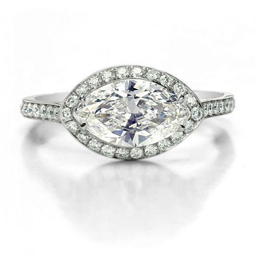 Jade Trau Marquise Halo Ring