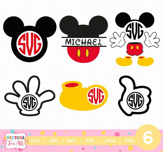 Mickey Mouse Disney Monogram SVG, Mickey Mouse Disney SVGs ...