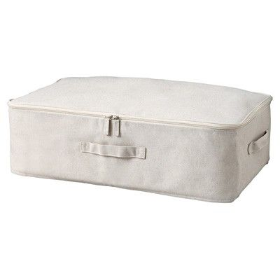 MUJI Cotton Linen Underbed Drawers   http://www.muji.us/store/storage/soft-boxes/cotton-linen-underbed-drawers.html