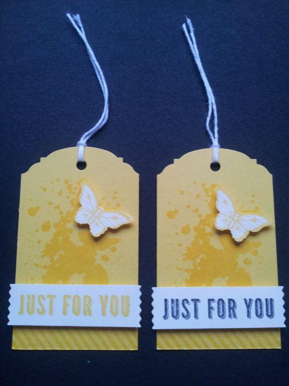 Set di 4 giallo brillante 'per te' Gift Tags di VickieLouDesigns