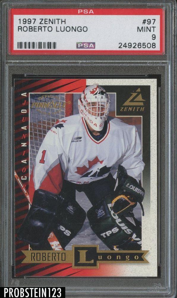 1997 Zenith 97 Roberto Luongo Rookie Psa 9 Canada Rookie Hockey