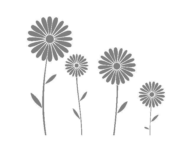 """. Vinilos Florales """"Margaritas"""" 03526 - Tienda online de vinilos decorativos, stickers, wall art, decoración"""