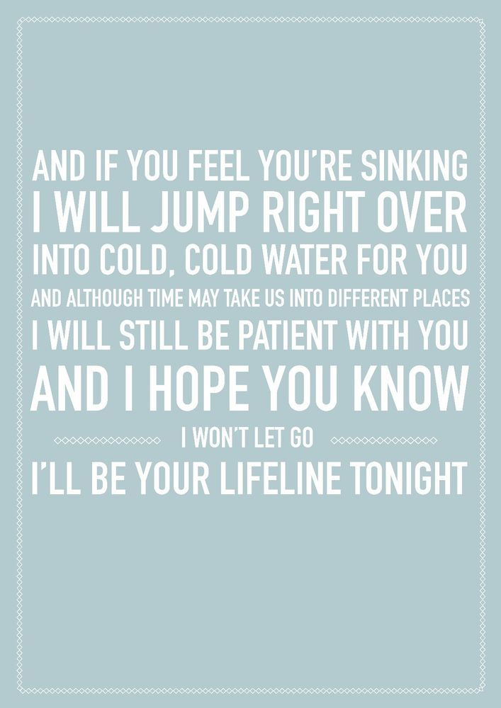 Justin Bieber Cold Water A4 Song Lyric Poster Print Art