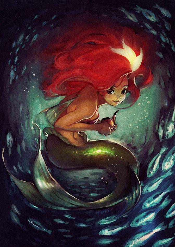 Ariel's_treasures by ~lehuss on deviantART: Tattoo Ideas, Paintings Art, Red Hair, Disney Princesses, Thelittlemermaid, A Tattoo, Fans Art, Mermaids Art, The Little Mermaids