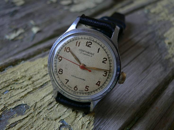 Serviced RARE vintage SPORTIVNIE poljot 1MChZ kirovskie ussr watch 50's cccp--asyawatches