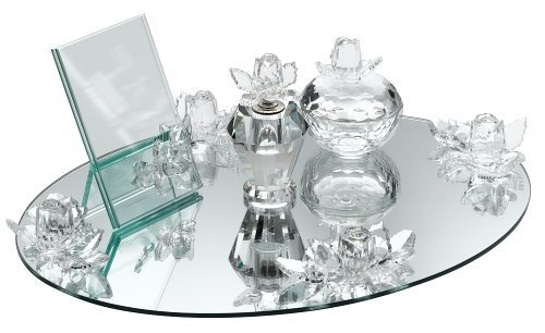 Will be adding this to my vanity soon!  Godinger Rose Crystal 4-Piece Vanity Set by Godinger