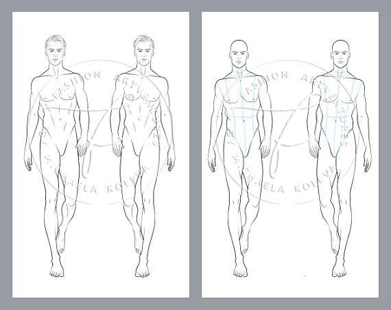 photo regarding Printable Fashion named Man Catwalk Design Printable Design and style Template, Style