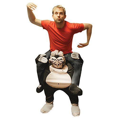 Unisex Piggy Back Gorilla Piggyback Costume - With Stuff Your Own Legs |