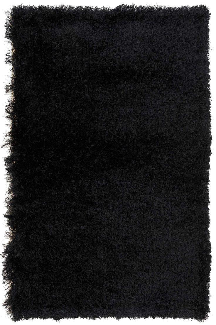 3x4 Black Shag Rug
