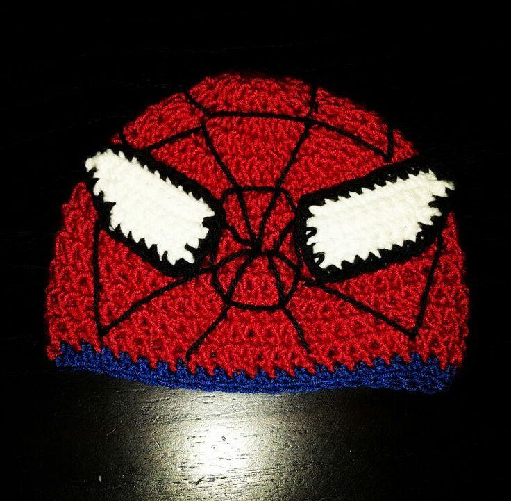 Gorro tejido al crochet -  SPIDERMAN T: 18 meses