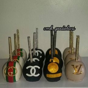 Gucci, Chanel, Versace & Louis Vuitton Cake Pops