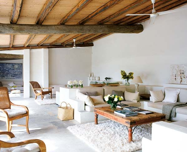 I really like the way they combined rustic with clean white more modern