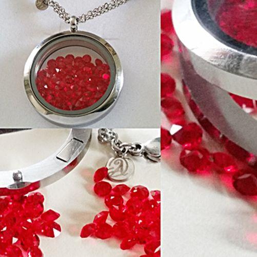 Souldance Red Passion Swarovski Silver Necklace - Aistikas