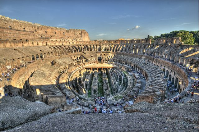 HDR of the Colosseum in Rome from the top floor!