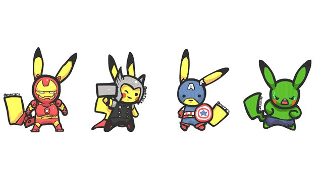 Even Pikachu Dressed Up For The Premiere of The Avengers